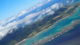 石垣島上空です。