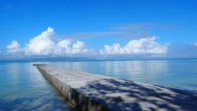 海も穏やかです。